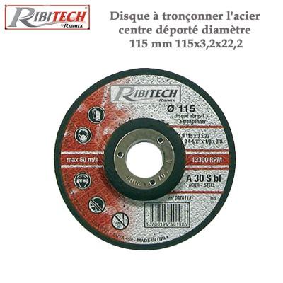 Disque à tronçonner l'acier centre déporté diamètre 115 mm - 2 pces