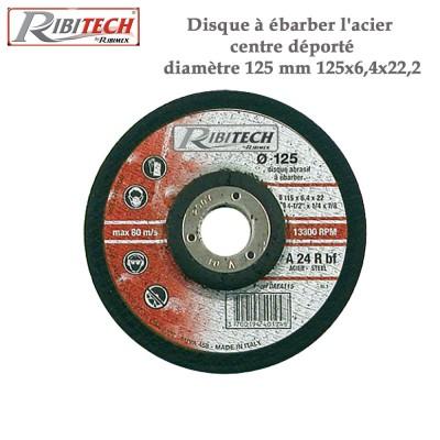 Disque à ébarber l'acier centre déporté diamètre 125 mm -2 Pces