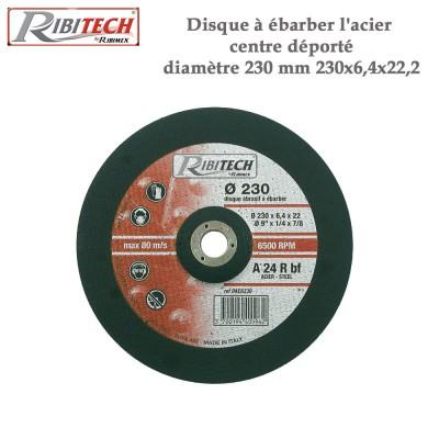 Disque à ébarber l'acier centre déporté diamètre 230 mm -2 pces