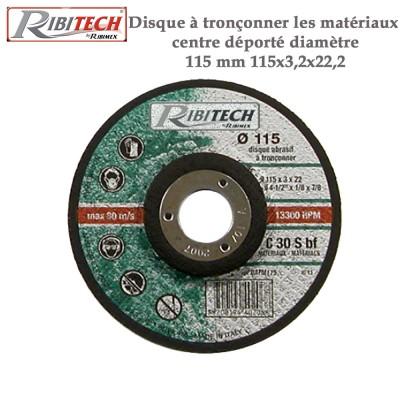 Disque à tronçonner les matériaux centre déporté diamètre 115 mm