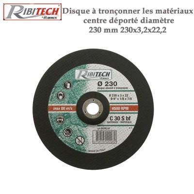 Disque à tronçonner les matériaux centre déporté diamètre 230 mm