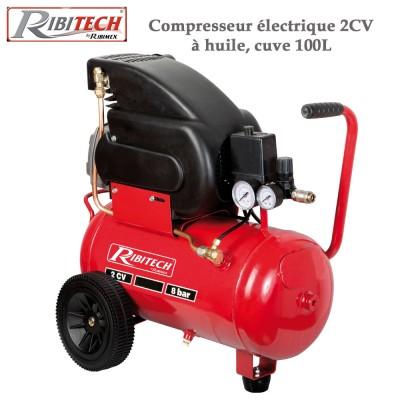 Compresseur électrique 2CV à huile, cuve 100L