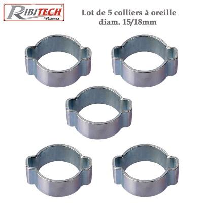 Colliers à oreilles - étanchéité tuyau d'air 15-18 - Lot de5
