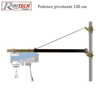 Potence pivotante 80 à 120 pour palan - 200 kg charge