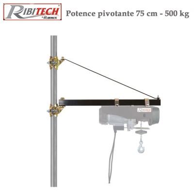 Potence pivotante pour palan -  500 kg charge