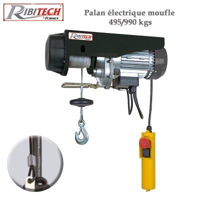 Palan électrique moufle 495/990 kgs