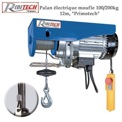 Palan électrique moufle 100/200kg, 12m Primotech