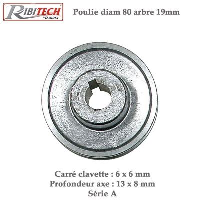 Poulies aluminium 19 x 80 mm
