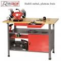 Etabli d'atelier métal, plateau bois