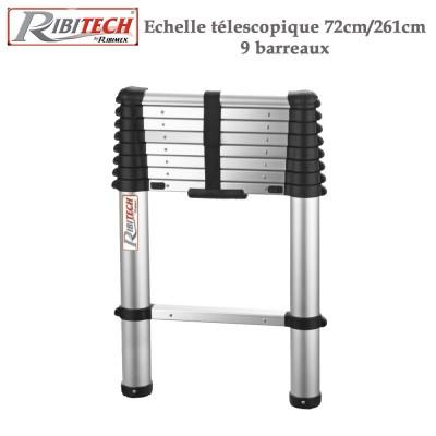 Echelle télescopique aluminium 9 barreaux