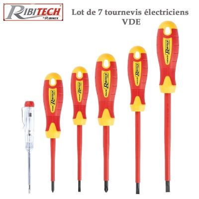 Tournevis électricien VDE -7 Pces