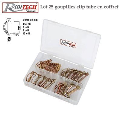 Goupilles clip tube en coffret - 25 Pces