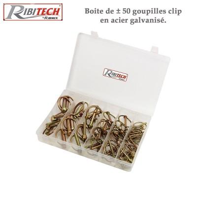 Goupilles clip en acier galvanisé - Boite de ± 50
