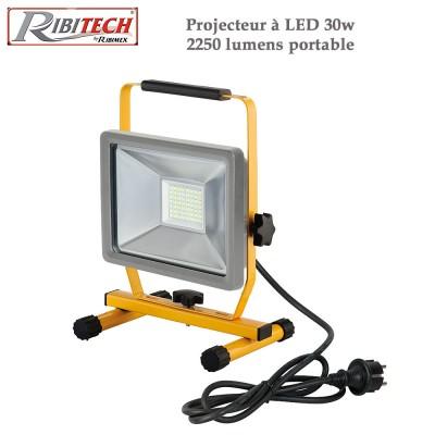 Projecteur de chantier à Led 30w 2250 lumens - Portable
