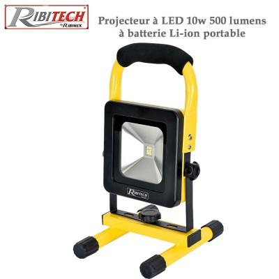 Projecteur de chantier à Led 10w 500 lumens - Li-ion, portable
