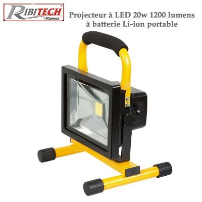 Projecteur à Led de chantier 20w 1200 lumens - Li-ion, portable