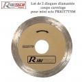 Disques diamant pour mini-scie circulaire - Carrelage - 2Pces