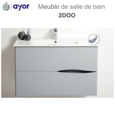 Meuble de salle de bains à suspendre 2DOO