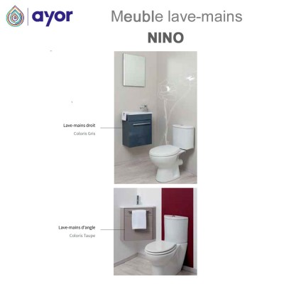 Meuble lave-mains suspendre Nino