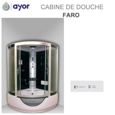 Cabine de douche-baignoire angle Faro - 136 x 136