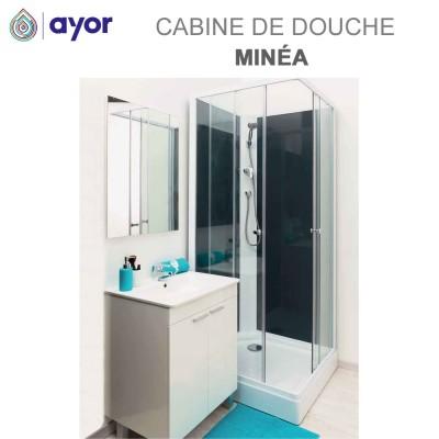 Cabine de douche Minea fonds gris - 80 x 80