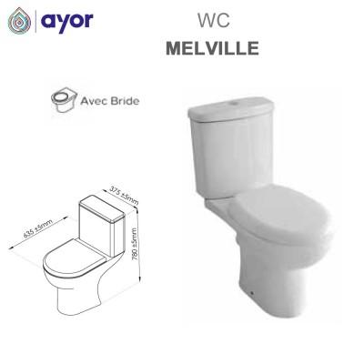 WC à poser Melville avec bride