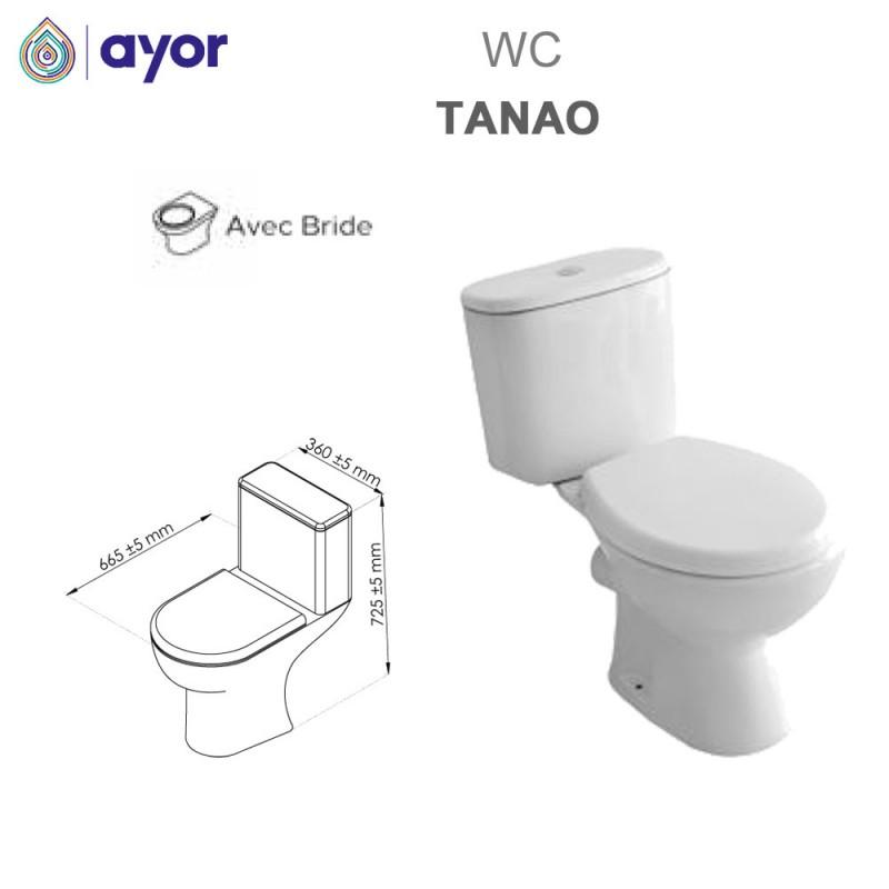 WC à poser Tano avec bride sortie Verticale