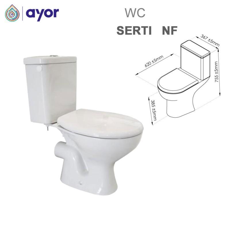 WC à poser Serti  NF avec bride