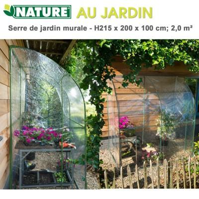 Serre de jardin murale - H 215 x 200 x 100 cm