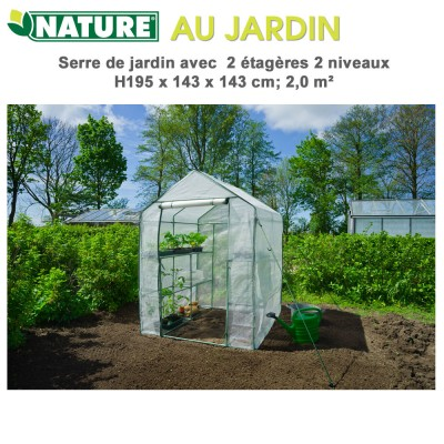 Serre de jardin 2 x 2 - H195x143x143 cm