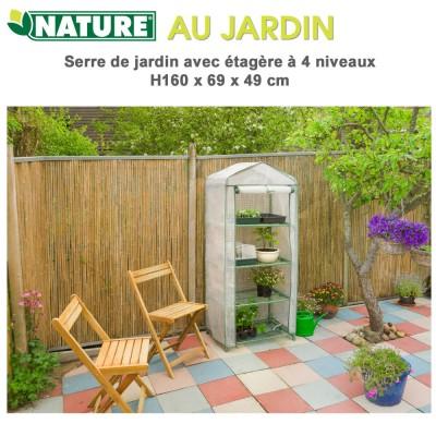 Serre de jardin - H 160 x 69 x 49cm