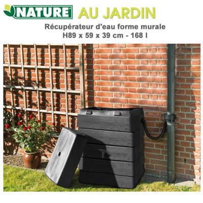 Récupérateur d'eau de pluie murale - 168 L