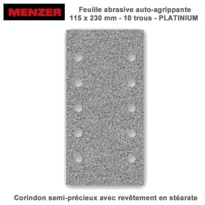 Patin abrasif 115 x 230 mm-10 Trous-Platinium 50 pièces