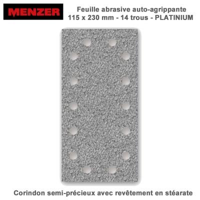 Patin abrasif 115 x 230 mm-14 Trous-Platinium 50 pièces