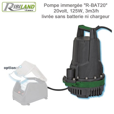 Pompe vide-cave à batterie (Seule) R-BAT20