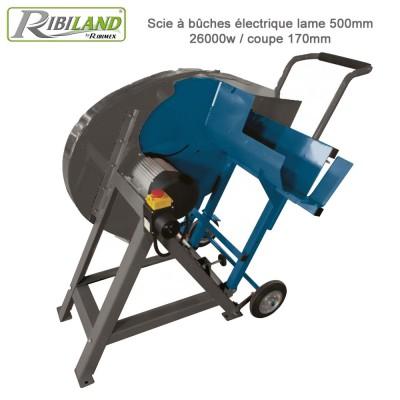 Scie à bûches thermique lame 700mm / 10,2HP / coupe 230mm