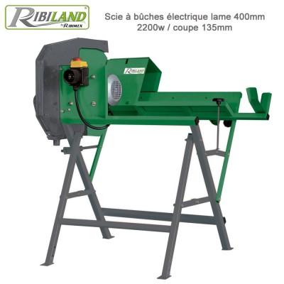 Scie à bûches électrique lame 400 mm/ 2200w/ coupe 135mm