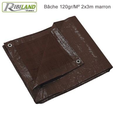Bâche de protection renforcées 120 gr/m² - 2 x 3 m