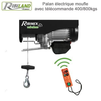 Palan électrique 230V~50Hz. - 400/800kg télécommande sans fil