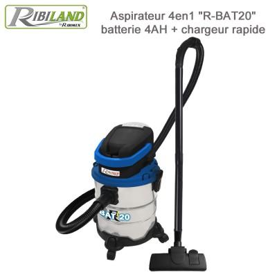 Aspirateur eau et poussières sans fil R-BAT20