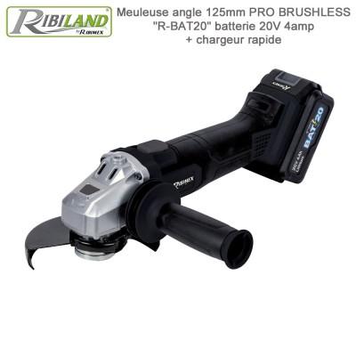 Meuleuse d angle sans fil 125 mm - R-BAT20