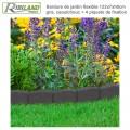 Bordure de jardin grise 120 x 7 x 8 cm