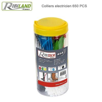 Colliers électricien - Boite de 650 pces