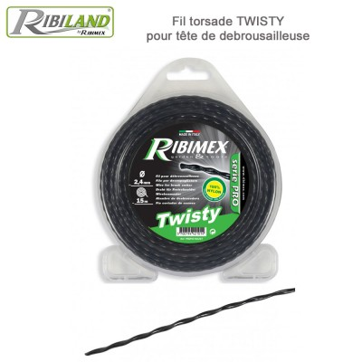 Fil Twisty pour débroussailleuse D 2,4 mm 15m