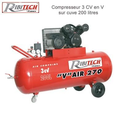 Compresseur 3CV sur cuve 200 L