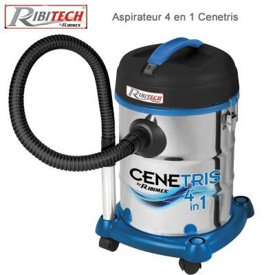 Aspirateur 4 en 1 Cenetris 1200w, bidon 25L