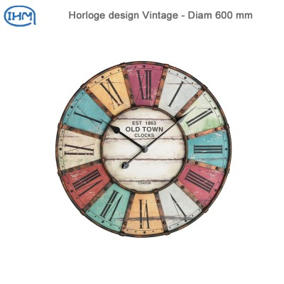 Horloge design Vintage - Diam 600 mm
