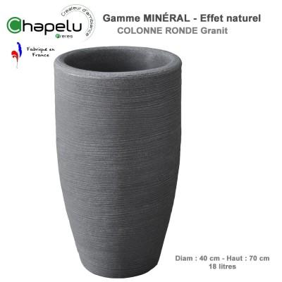 Pot de fleur - Colonne ronde minéral 40/70 cm
