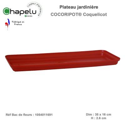 Plateau Jardinière résine Cocoripot 39 x 20 cm