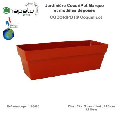 Jardinière résine Cocoripot 39 x 20 cm avec réserve